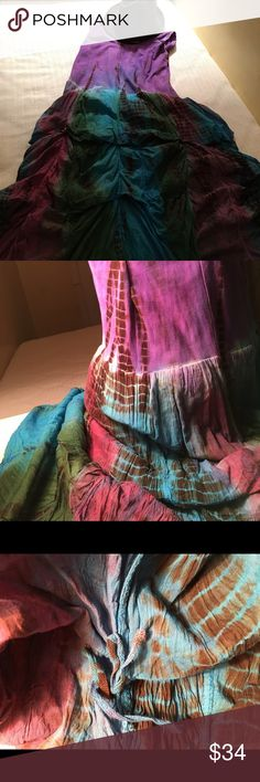 Boho purple pink dyed lovely maxi dress Adjustment of upper body stretching possible dress and length can be freely. It is a fun dress!!!  Belma Dresses Maxi