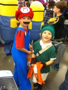 Mario and link DIY costumes