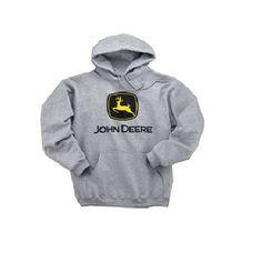 John Deere Men's Gray Trademark Hoodie – GreenToys4u.com