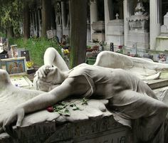 """https://flic.kr/p/9uALjw   Staglieno   1   This was the tomb I most wanted to see.  Recognizable to many from the picture sleeve on Joy Division's classic """"Love Will Tear Us Apart.""""  So moving and beautiful, as with so many other tombs here.  (Staglieno Cemetery, Genoa Italy)"""