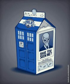 TARDIS milk. I love this, but why is there nobody on the missing persons part?