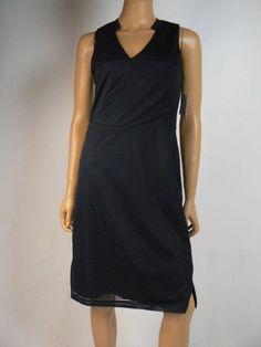 Ann Taylor Navy Blue Stripe Textured Notched Collar Vneck Dress XS 0 2 NEW A832 #AnnTaylor #Sheath #Cocktail