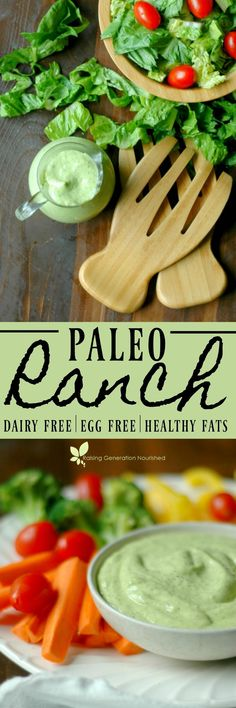 From salad dressing to dip and everything in between, Paleo Ranch dressing is everything you love about Ranch, without the dairy! paleo diet for kids