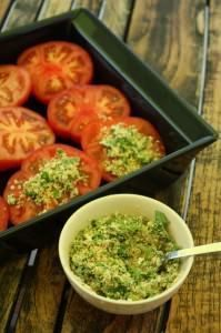 Provençaalse tomaten 6 marmande tomaten of runderhart 2 kleine teentjes . Veggie Recipes, Vegetarian Recipes, Healthy Recipes, Cooking Recipes, Good Food, Yummy Food, Vegetable Side Dishes, Summer Recipes, Food Inspiration