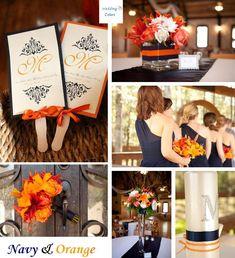 Color Inspiration: Navy & Shades of Orange  « Wedding Colors