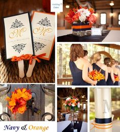 Color Inspiration: Navy & Shades of Orange  « Wedding Colors