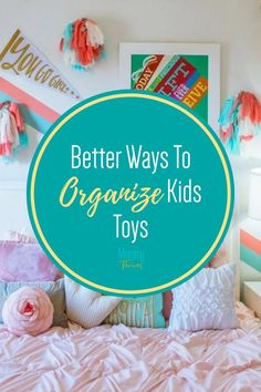 Organization Tips For Kids Toys - Cheap Ways To Organize Kids Toys - Living Room and Bedroom Kids Toys Organization Small Space Organization, Home Organization Hacks, Organizing Ideas, Kitchen Organization, Organizing Clutter, Organizing Your Home, Organize Kids, Kid Rooms, Bedroom Kids
