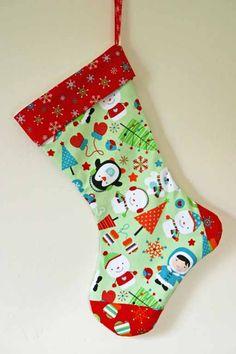 Seamzine: Season No 1. Free Sewing Pattern - Christmas Stocking                                                                                                                                                                                 More