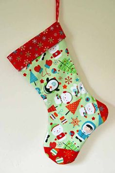 Seamzine: Season No 1. Free Sewing Pattern - Christmas Stocking                                                                                                                                                                                 More