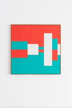 Camille Graeser, Permutation, Acrylic on canvas, 108 x 108 cm Simple Collage, Concrete Art, Minimal Design, Geometric Shapes, Color Inspiration, Red And White, Abstract Art, Canvas Art, Collages