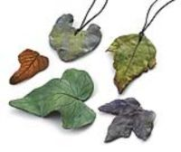 collect leaves from outside and have students trace the leaves onto thin clay. Use a clay tool to design the veins and fire. Great for fall.