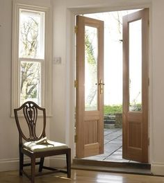 Glazed Hardwood French Doors