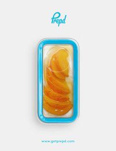 Honey sweetened fruit & creamy yoghurt for a tasty post lunch snack or dessert.