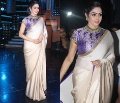 Sridevi+Sizzles+in+Simple+Satin+Saree