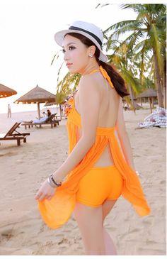 ワンピース風タンキニ水着-N4941。水着の画像をクリックしてから注文できます。