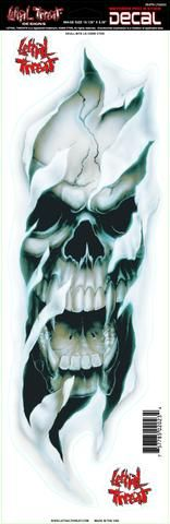 Skull Pipe LT00492 Lethal Threat Decal