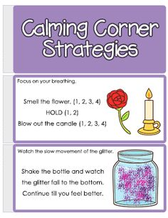 Create a Calming Corner in Your Classroom ⋆ The Blue Brain Teacher by Selma Dawani Coping Skills Activities, Anxiety Activities, Social Emotional Activities, Calming Activities, Classroom Discipline, Classroom Management, Calm Classroom, Autism Classroom, Behavior Management