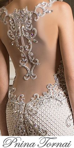 Pnina Tornai The Queen of Bling gives us a close up of their dazzling gown! The post Pnina Tornai appeared first on Do It Yourself Diyjewel. Sexy Wedding Dresses, Bridal Dresses, Wedding Gowns, Gothic Wedding, Wedding Outfits, Pnina Tornai Wedding Dresses, Wedding Dress Bling, Lace Wedding, Bling Dress