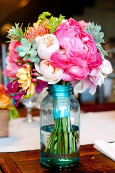 Look at all of the colors!  Perfect for a bright and cheery summer wedding!