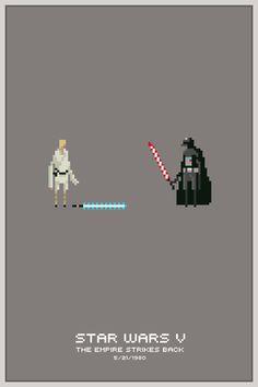 Pixel Art Star Wars Posters