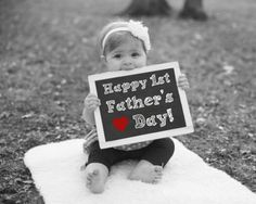 Happy 1st Father's Day Chalkboard Sign, Father's Day Gift, Gift For Dad, Gift For Husband, First Father's Day Photo, Fathers Day Photo Gift by PrintsInspiredByMyah on Etsy