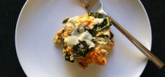 kale, sweet potato, bacon egg bake - may substitute spinach for kale