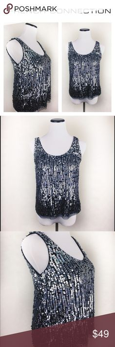FRENCH CONNECTION SEQUINS BLACK TOP SZ2 Elegant French Connection UK sequins black top in size 2. Brand new with tags, has been in a closet with other clothing, so it doesn't look out of the store. Original price $198 lowered to $49. Perfect to wear with black or white pants for a special event! Love it? Make an offer! I'm willing to negotiate 👍 Questions? Ask me 😉💖 French Connection Tops