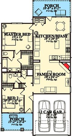 Plan 86289HH: Two Bedrooms In A Narrow Lot Northwest House Plan