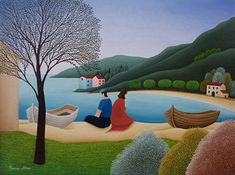 Seeking Reconciliation by Cesare Novi - GINA Gallery of International Naive Art
