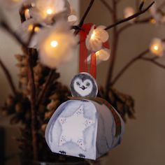 Early Christmas decor with a smiling little penguin