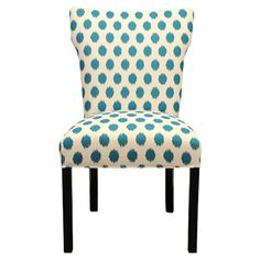 Add a pop of pattern to your living room or den with this wood-framed side chair, showcasing an ikat-inspired motif and cotton upholstery.    ...