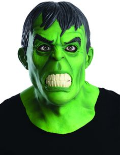 Hulk Latex Mask This Hulk overhead mask is an licensed Marvel accessory. This latex mask comes in one size that fits most teens and adults