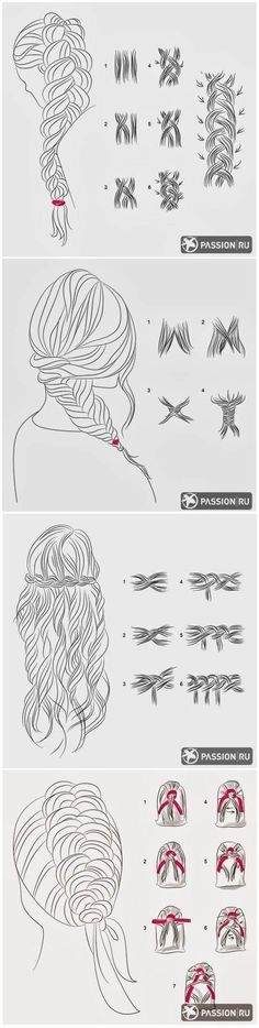 Step by step braids...