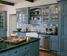Blue kitchen