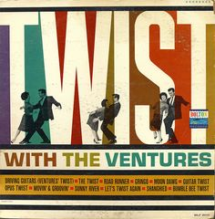 Twist with The Ventures #LP #cover #record #vinyl