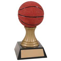 Basketball Trophies, Pedestal, Gold, Yellow