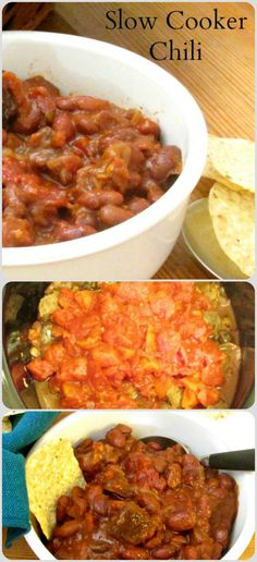 Make a large slow cooker full of chili, for a party, for the freezer, for a series or delicious quick meals!