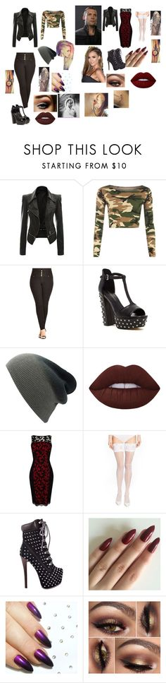 """""""training and date with eric"""" by alannahzoe on Polyvore featuring WearAll, City Chic, Rebecca Minkoff, Lime Crime, Karen Millen, Wolford and ZIGIgirl"""