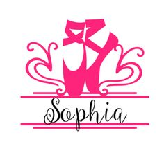 Ballet Slipper Name Vinyl Decal, Dance Monogram, Car Decal, Custom Ballet name vinyl decal sticker, personalized decal by SouthernMissVinyl on Etsy