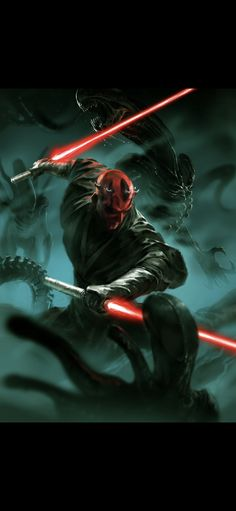 Can I see a movie of this please? Star Wars Icons, Star Wars Poster, Star Wars Episode 2, Star Wars Painting, Star Wars Sith, Jedi Sith, Aliens Movie, Star Wars Images, Darth Maul