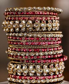 Bridal Jewelry Indian Accessories Ideas For 2019 The Bangles, Bridal Bangles, Silver Bracelets, Indian Bangles, Silver Ring, Silver Earrings, Stacking Bracelets, Cuff Bracelets, Dainty Jewelry