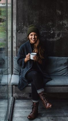 how to dress for the cold ~ Coffee and warmth