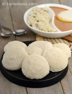 These super-soft idlis are made with a combination of readymade rice rava and cooked rice along with fluffy, wet-ground urad dal. It is easier to prepare this idli compared to the traditional one, as you need to soak wet-grind only the urad dal. It is also a relatively foolproof method that is sure to yield appetizingly white, bouncy soft idlis. However, since it makes use of cooked rice, it is not advisable to keep the fermented batter for more than a day or two.