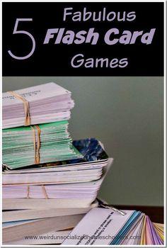 Five Fabulous Flash Card Games