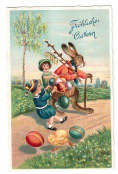 AK Fröhliche Ostern vermenschlicht (32)