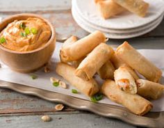 Shrimp Spring Rolls with Spicy Peanut Dipping Sauce #ToastWiththeCoast