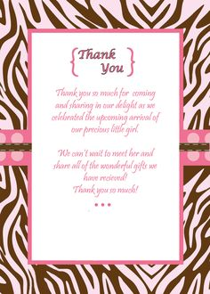 Highly Appreciated Baby Shower Thank You Note Wordings  Note