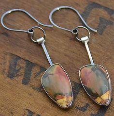 Jasper Stone Earring Sterling Wild Prairie Silver by joykruse, $118.00