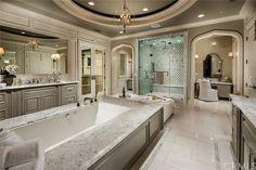 Luxury Master Bathrooms, Bathroom Design Luxury, Dream Bathrooms, Luxury Bedrooms, Dream House Exterior, Dream House Plans, I Love House, Kitchen Cabinet Remodel, Kitchen Cabinets