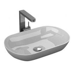 BRAVAT Ceramic Vessel Basin - White | House ideas | Ceramics, Sink